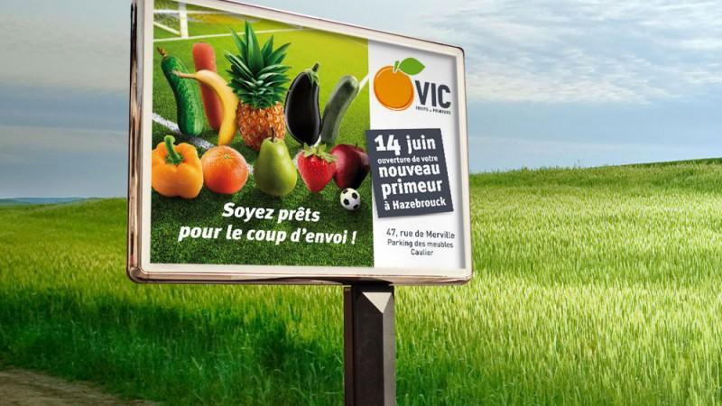 Affiche d'ouverture VIC fruits