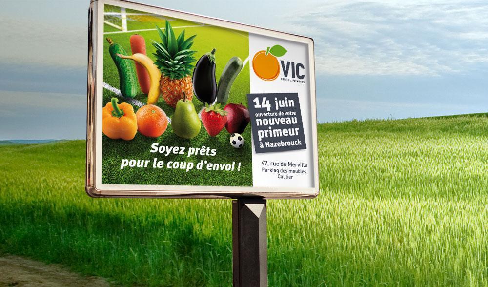 Affiche d'ouverture VIC fruits
