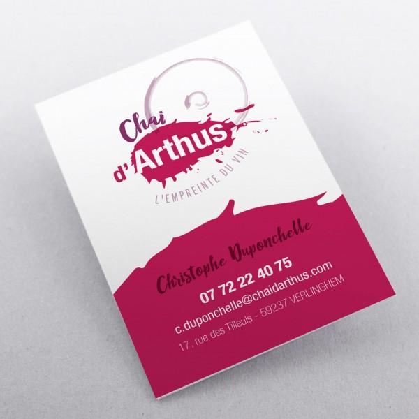 Création carte de visite Chai d'Arthus