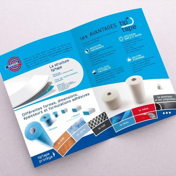 Création plaquette entreprise Tip'tape (Eurocel) Sicad France