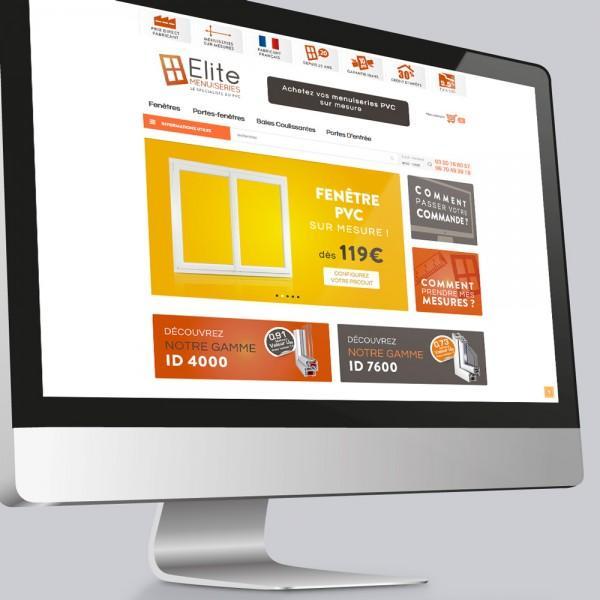 Client : Élite Menuiseries (vente de menuiseries en ligne) | Activité : Distribution
